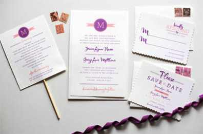 Wedding Programs from Wedding Chicks